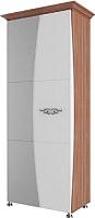 Шкаф SV-мебель Спальня Лагуна 7 (ясень шимо темный/жемчуг) -