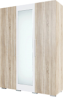 Шкаф SV-мебель Спальня Лагуна 2 трехстворчатый (дуб сонома/белый глянец) -