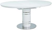 Обеденный стол Signal Stratos 120 (белый лак) -