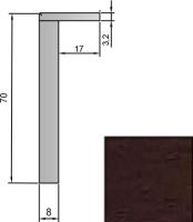 Наличник Юркас Stark 70 телескопический (венге) -