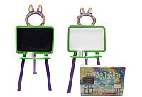 Мольберт детский Doloni 0137770/6 (салатовый/фиолетовый) -