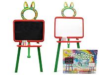 Мольберт детский Doloni 0137770/3 (оранжевый/зеленый) -