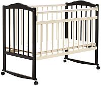 Детская кроватка Bambini М.01.10.09 (темный орех/слоновая кость) -