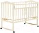 Детская кроватка Bambini М.01.10.09 (слоновая кость) -