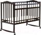 Детская кроватка Bambini М.01.10.09 (темный орех) -