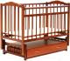 Детская кроватка Bambini М.01.10.10 (светлый орех) -