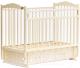 Детская кроватка Bambini М.01.10.10 (слоновая кость) -