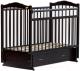 Детская кроватка Bambini М.01.10.10 (темный орех) -