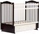 Детская кроватка Bambini М.01.10.10 (темный орех-слоновая кость) -