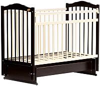 Детская кроватка Bambini М.01.10.11 (темный орех/слоновая кость) -