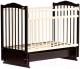 Детская кроватка Bambini М.01.10.11 (темный орех-слоновая кость) -