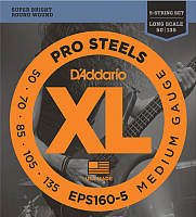 Струны для бас-гитары D'Addario EPS-160-5 -
