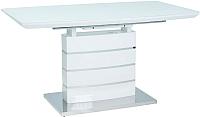 Обеденный стол Signal Leonardo 140 (белый лак) -