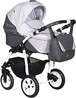 Детская универсальная коляска INDIGO Alma 2 в 1 (am 02, серый/серый) -