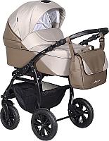 Детская универсальная коляска INDIGO Alma Lux 2 в 1 (Al 01, бежевая кожа/бежевый) -