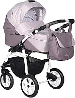 Детская универсальная коляска INDIGO Alma Lux 2 в 1 (Al 05, пудра кожа/розовый) -