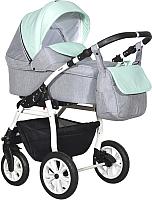 Детская универсальная коляска INDIGO Charlotte 18 2 в 1 (Ch 35, серый/мятный) -