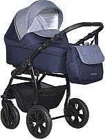 Детская универсальная коляска INDIGO Charlotte 18 F 3 в 1 (Ch 32, темно-синий/джинс) -