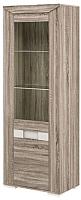 Шкаф с витриной Мебель-Неман Кристалл МН-131-11 (дуб сонома/трюфель) -