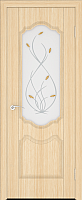 Дверь межкомнатная Юркас ПВХ Стандарт ПО Орхидея 80x200 (беленый дуб/матовое) -