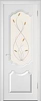 Дверь межкомнатная Юркас ПВХ Стандарт ПО Орхидея 60x200 (белоснежный/мателюкс) -