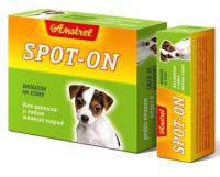 Капли от блох Amstrel Spot-on для щенков и собак мелких пород (2мл) -