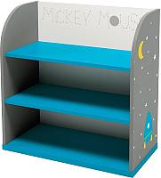 Стеллаж Polini Kids Disney baby 810 Микки Маус с корзинами (белый/серый) -