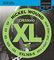 Струны для бас-гитары D'Addario EXL-165-5 -