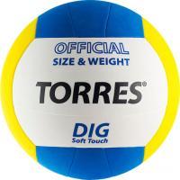 Мяч волейбольный Torres Dig V20145 (White/Yellow/Blue) -