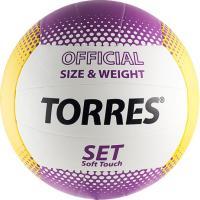 Мяч волейбольный Torres Set V30045 (White-Yellow-Purple) -