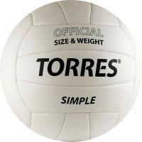 Мяч волейбольный Torres Simple V30105 (White-Black) -