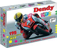 Игровая приставка Dendy Kids 195 игр + световой пистолет -