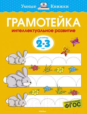Развивающая книга Махаон Грамотейка. Интеллектуальное развитие для детей 2-3 лет проводим время вместе для детей 2 3 лет