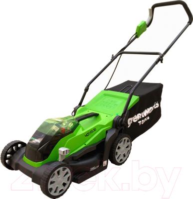 Газонокосилка электрическая Greenworks G40LM35K4 газонокосилка greenworks 2509607 g24lm32k2