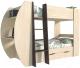 Двухъярусная кровать Интерлиния Анеси-2 (дуб венге/дуб молочный) -