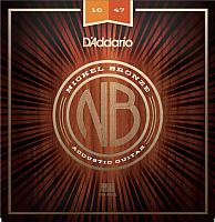 Струны для акустической гитары D'Addario NB1047 -