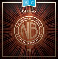 Струны для 12-струнной гитары D'Addario NB1047-12 -