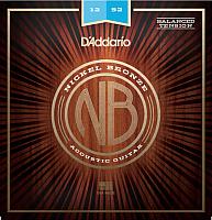 Струны для акустической гитары D'Addario NB1252BT -