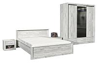 Комплект мебели для спальни Интерлиния Лима-3 (без основания,дуб белый) -