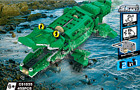 Конструктор управляемый CaDa Динозавр и Крокодил / C51035W (450эл) -