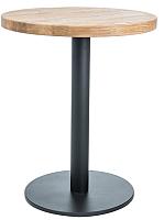 Обеденный стол Signal Puro II 60 (дуб натуральный/черный) -