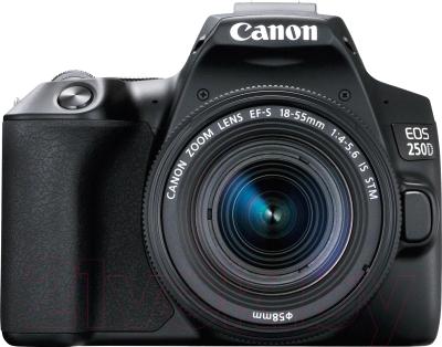 Зеркальный фотоаппарат Canon EOS 250D Kit EF-S 18-55mm IS STM / 3454C002 фотоаппарат canon eos m50 kit ef m 15 45mm f 3 5 6 3 is stm white 2681c012
