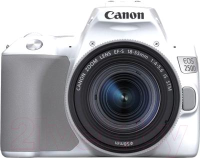 Зеркальный фотоаппарат Canon EOS 250D Kit EF-S 18-55mm IS STM / 3458C001 фотоаппарат canon eos m50 kit ef m 15 45mm f 3 5 6 3 is stm white 2681c012