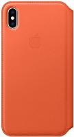 Чехол-книжка Apple Leather Folio для iPhone XS Sunset / MVFC2 -