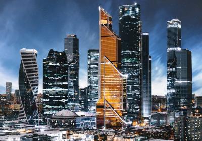 Фотообои листовые Твоя планета Люкс Москва-сити