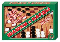 Набор игр Десятое королевство Шашки и нарды большие / 1069 -