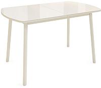 Обеденный стол Listvig Винер Mini 94-126x64 (кремовый) -
