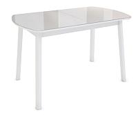 Обеденный стол Listvig Лайк 120-152x70 (латте/белый) -