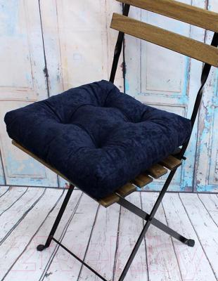 Подушка на стул MATEX Velours / 07-722 (темно-синий)
