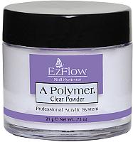 Акриловая пудра для ногтей EzFlow A-Polymer Clear Acrylic Powder (21г) -